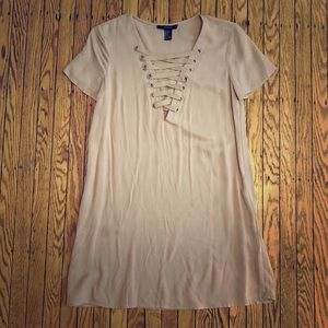 Forever 21 Lace Up T-Shirt Dress (x-small)